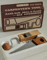 ミニ大工道具セット  CARPENTER'S TOOL  HAND SAW, DRILL& PLANE  ハンドのこぎり、ドリル&ミニかんな