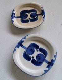 CERAMIC  セラミック・ジャパン  手描きのテーブルウェア  ブルー・フラワー  プレート2枚セット  デザイン S・SAKAEGI 栄木正敏