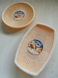 Sakura  もり皿(水切りアミ&うけ皿) ゆうげ  丸形&小判型セット