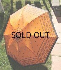 Thankyo  ワンタッチ式折りたたみ傘  のびのびジャンプ  color: オレンジ  柄:ホース&チェーン