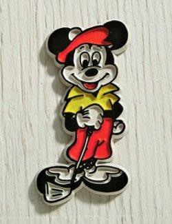 画像1: ミッキーマウス   ゴルフ  ラバーマグネット   WALT DISNEY PRODUCTIONS