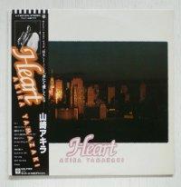 """LP/12""""/Vinyl  Heart  山崎アキラ   (1981)  warner  帯、歌詞カード"""