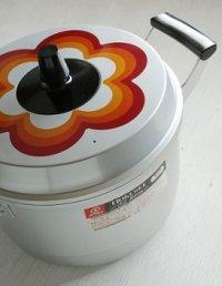 ホクセイ  パナフルシリーズ   フラワー/花柄  アルミ  兼用鍋/蒸し器  Φ 24cm  6.1L