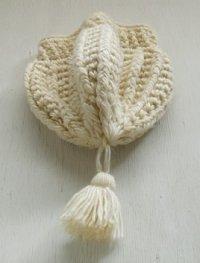 ginger-etts  ボンボンニット帽  アイボリー
