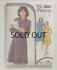 ジャノメ・フィット・パターン Fit Patterns   ワンピース 3種  ミセス 2038   裁ち方・縫い方説明書付き