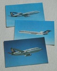 Olympic Airways   オリンピック航空   BOEING  727-200/737-200/707-320   ポストカード3枚セット