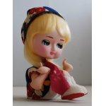 画像: ポーズ人形 花柄帽子&ウェアー/スカーフ