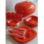 画像: Panton Era   MASTER PICNIC SET Plastic Ware  プラスチック製ピクニックセット 4人用  (S&P、カップ4、ディナープレート4、ナイフ4、スプーン4、フォーク4、小ボウル4、大ボウル4)
