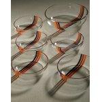 画像: ADERIA GLASS アデリア サラダセット  アベニュー(オレンジ/レッド/ブラック)   L:1個 Ø21×D5.8(cm)/S: 5個 Ø13.9×D4(cm)