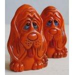 画像: S&P SHAKERS   プラスチック ソルト&ペッパー  ORANGE PLASTIC HOUND DOG   ハウンドドッグ  J.S.N.Y