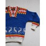 """画像: Cildren's Clothing Sweater """"DEER"""" 子供用セーター シカ模様/ホック付 サイズ:6〜8歳/130cm"""
