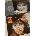 """画像: LP/12""""/Vinyl   eyes   渡辺美里  (1985)  EPIC SONY  クリアーフィルムカバー、ステッカー付ジャケ、見開きタイプ歌詞カード付"""