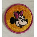 画像: Disneyland  Minnie Mouse Patch ミニーマウス ワッペン  刺繍タイプ  size: Ø8cm  WALT DISNEY PRODUCTIONS