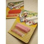 画像: 東京 ヤマト産業(株)  ピンキープ  フラワー安全ピン10本セット  color: ピンク/レッド  各1パック