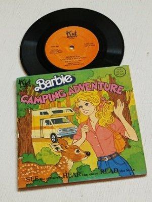 """画像1: EP/7""""/Vinyl  Barbie CAMPING ADVENTURE  バービー キャンピング・アドベンチャー   SEE HEAR READ  レコード付ストーリー塗り絵本  (1981)   Kid STUFF RECORDS"""
