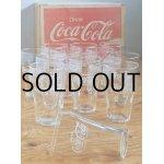 画像: TOYO GLASS FOUNTAIN GLASS FOR COCA-COLA 1DOZ. コカ・コーラグラス 12個/1ダース