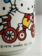 """画像: SANRIO サンリオ  Hello Kitty ハローキティ  """"Kitty & Mimmy"""" 陶器製 湯呑  ©1975 SANRIO CO., LTD."""