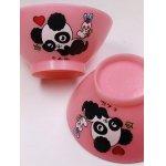 画像: パンダのお茶碗  ピンク  素材:ポリプロピレン  © mon cheri 各1枚