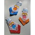 画像: UAUMU  Handkerchief ハンカチーフ   Petit Passage  RICH&HONEY  男の子・女の子・星   綿100% size: 33×33(cm)  各1枚 color: 赤、青、黄
