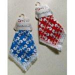 画像: Handkerchief ハンカチーフ 1枚   プードル   綿100% size: 29×29(cm)