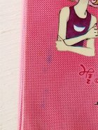 画像: UNION  CHANNELロック式筆入 MyLENE 松尾美保子イラスト color: ピンク ize: W9.7×L22.4×D2.(cm) ユーズド