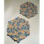 画像: U.S.ドイリー2pcセット  六角形 パステル(ピンク、ブルー、グリーン、イエロー)   size: 21.5cm