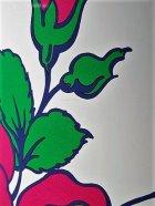 """画像: ヤマザキ YAMAZAKI SANNGYO MAMA POT コンドル """"ママポット""""  花かご 柄: バラ/ローズ 素材: スチール&ホーロー 容量:10L"""