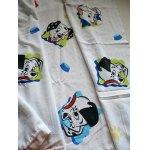 """画像: 101 dalmatians  flat sheet twin U.S.A.  ユーズド """"101匹わんちゃん""""  フラットシーツ  ツインサイズ: 160×240(cm) 素材: ポリエステル70%、コットン30%"""