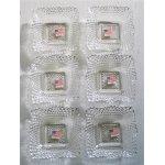 """画像: Indiana Glass Co.  Depression glass/ Diamont Point Crystal Bowl  インディアナグラス ディプレッションガラス  """"ダイヤモンドポイント"""" スクエア―ボウル  各1個"""