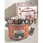 """画像: マルビシ  ELECTRIC COOKER """"SLOW POT MINI""""  スローポット ミニ  レンガ柄  電気陶器鍋(電気調理鍋)  容量: 2.2 L"""