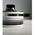 画像: 象印マホービン  ピエール・カルダン ホーローウェア キャセロール FUB-18  color: ホワイト/ストライプ  Φ18cm /2.2L