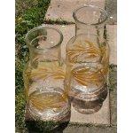 画像: Libbey Glass  Carafes  Golden Wheat Design    リビーグラス  カラフェ/ピッチャー/ジャー  ウィート/麦   各1個
