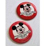 画像: 缶バッチ  MICKEY MOUSE CLUB (ミッキーマウス・クラブ)  ©WALT DISNEY PRODUCTIONS  各1個(A,B)