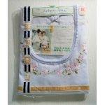 画像: サンリ―  アイシス エプロン  U字ネック  フラワー刺繍  東洋紡  丈80cm フリル付
