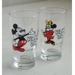 画像: KIRIN LEMON  ミッキーマウス、ミニーマウス  ノベルティディズニーグラス  Walt Disney Productions  2pc set
