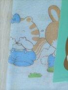 画像: ミキ miki  赤ちゃん用 エリヌキ 毛布カバ- どうぶつ柄  綿100%  size: 90×120(cm) ピンク・イエロ-・みずいろ 各1枚