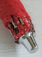 画像: 折りたたみ傘  アイデアル タータンチェック レッド ナイロン100%