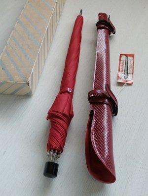 画像1: REDI-BRELLA  カバー付き携帯日傘  アセテート100%   レッド  U.S.A.