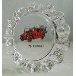 画像: 76' 東京消防協会  ガラス灰皿  消防自動車プリント